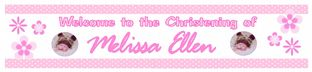 Personalised Girl Christening Banner Design 5